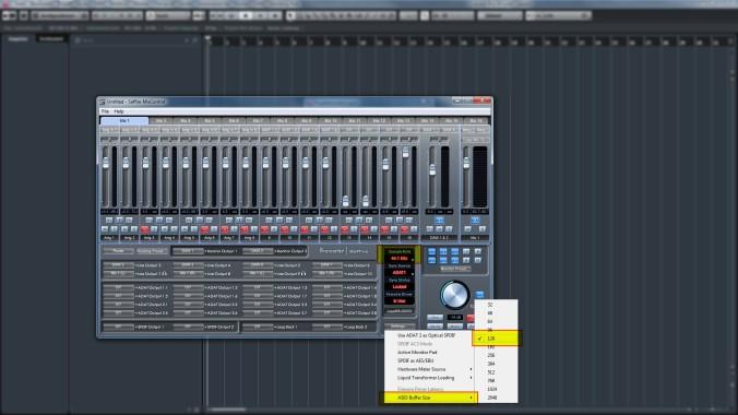 Saffire Mix Control Settings